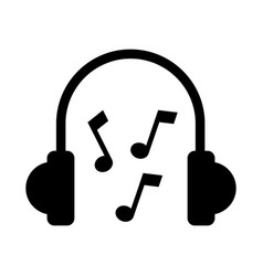 earphones device with music notes vector image