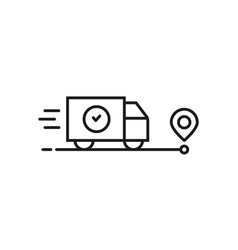 fast delivery goods or moving icon vector image
