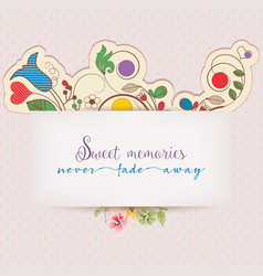 floral greeting card with text message design vector image