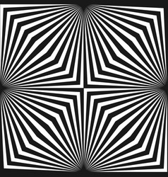 geometric pattern with black white striped lines vector image