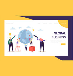 global business opportunity character landing page vector image
