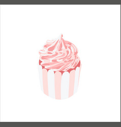 hand-drawn sweet cupcake muffin isolated vector image