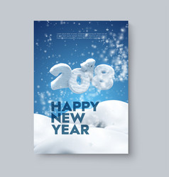 Happy new 2018 year vector