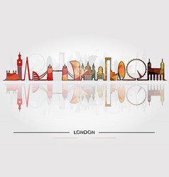 historic buildings london vector image