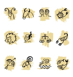 Horoscope Zodiac set vector image
