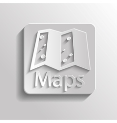 Icon map vector