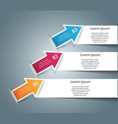 infographic icons arrows icon vector image
