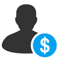 investor flat icon vector image
