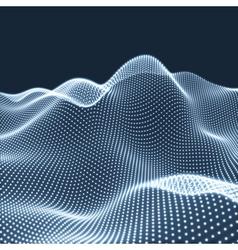 Landscape Background Landscape Grid 3D Terrain vector