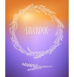 Lavender wreath vector image