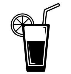 Lemon water glass vector