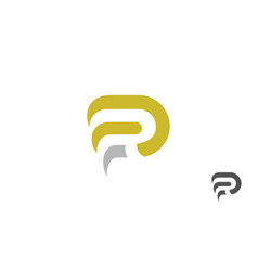 letter r abstract logo vector image