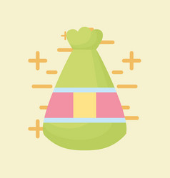 Lucky bag icon vector