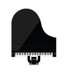 Man icon playing piano instrument vector