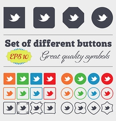messages retweet icon sign Big set of colorful vector image