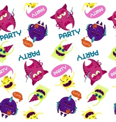 Monsters pattern vector image