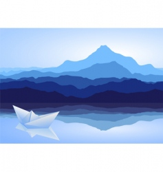 mountains vector image
