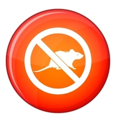 No rats sign icon flat style vector