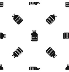 Nutritional supplement for athletes pattern vector