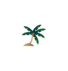 palm tree logo design concept vector image