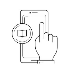phone touchscreen line icon vector image