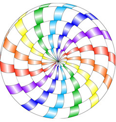 Psychedelic pattern snail multi-colored spiral vector