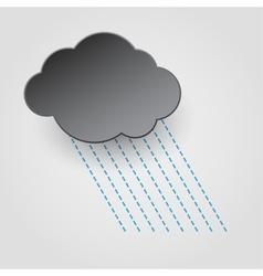 Rainy cloud icon vector