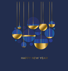 round abstract shapes in gold and blue vector image