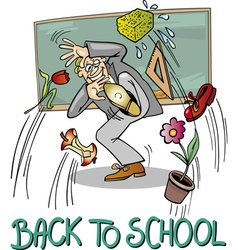 School Teacher at Blackboard vector image
