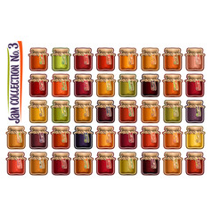 set different jam jars vector image