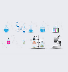 set objects from chemical laboratory vector image