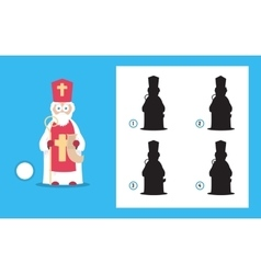 Simple christmas themed riddle with saint nicholas vector image