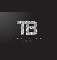 Tb t b letter logo with zebra lines texture vector