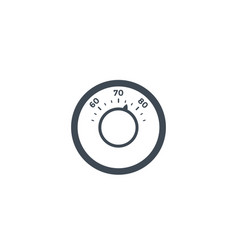 thermostat icon on white vector image
