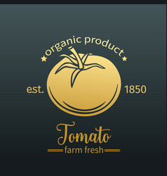 tomato golden badge vector image