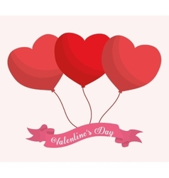 Valentines day themed image vector