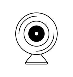 Web camera device isolated icon vector