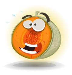cartoon funny melon character vector image