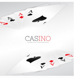 Playing cards background design vector