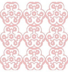 Abstract dots floral red background vector image vector image