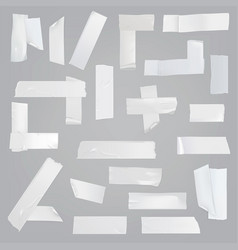 adhesive tape various pieces realistic set vector image vector image