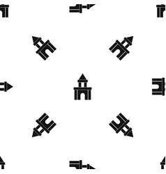 Blocks toy pattern seamless black vector