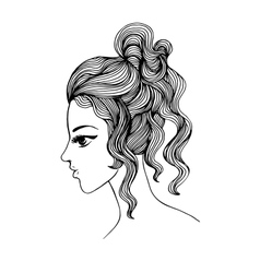 Elegant girl profile for Your design vector image