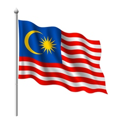 Flag of Malaysia vector image vector image