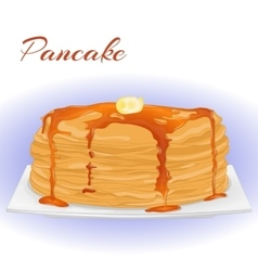 Pancakes with honey and butter for Shrove Tuesday vector image