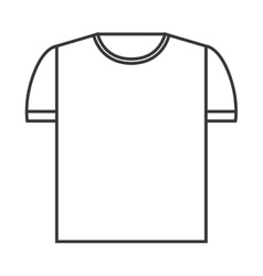 shirt clean isolated icon vector image vector image
