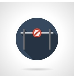 Street barrier round flat icon vector image