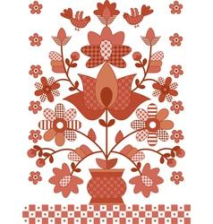 ukrainian traditional flowers vector image