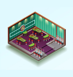 casino hall isometric interior vector image