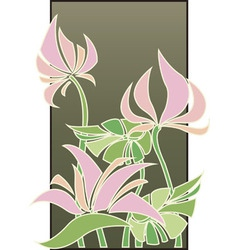 Flowers composition in Art Deco style vector image vector image